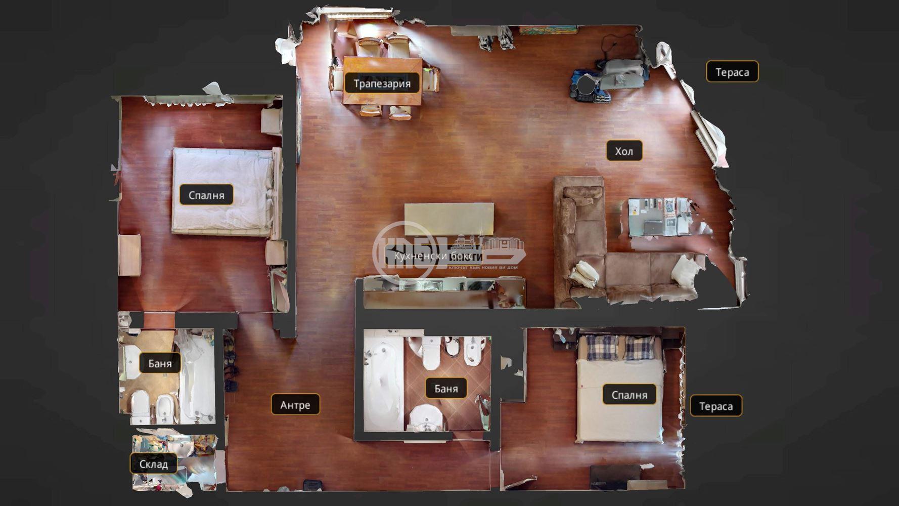 Перфектен тристаен апартамент - ремонтиран и без забележки