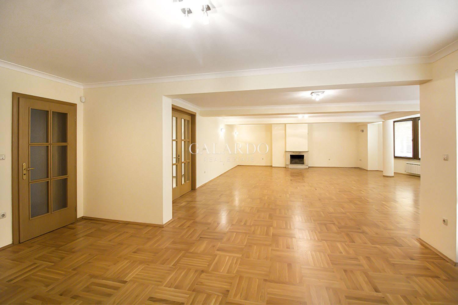 Spacious office with a garage in Iztok area