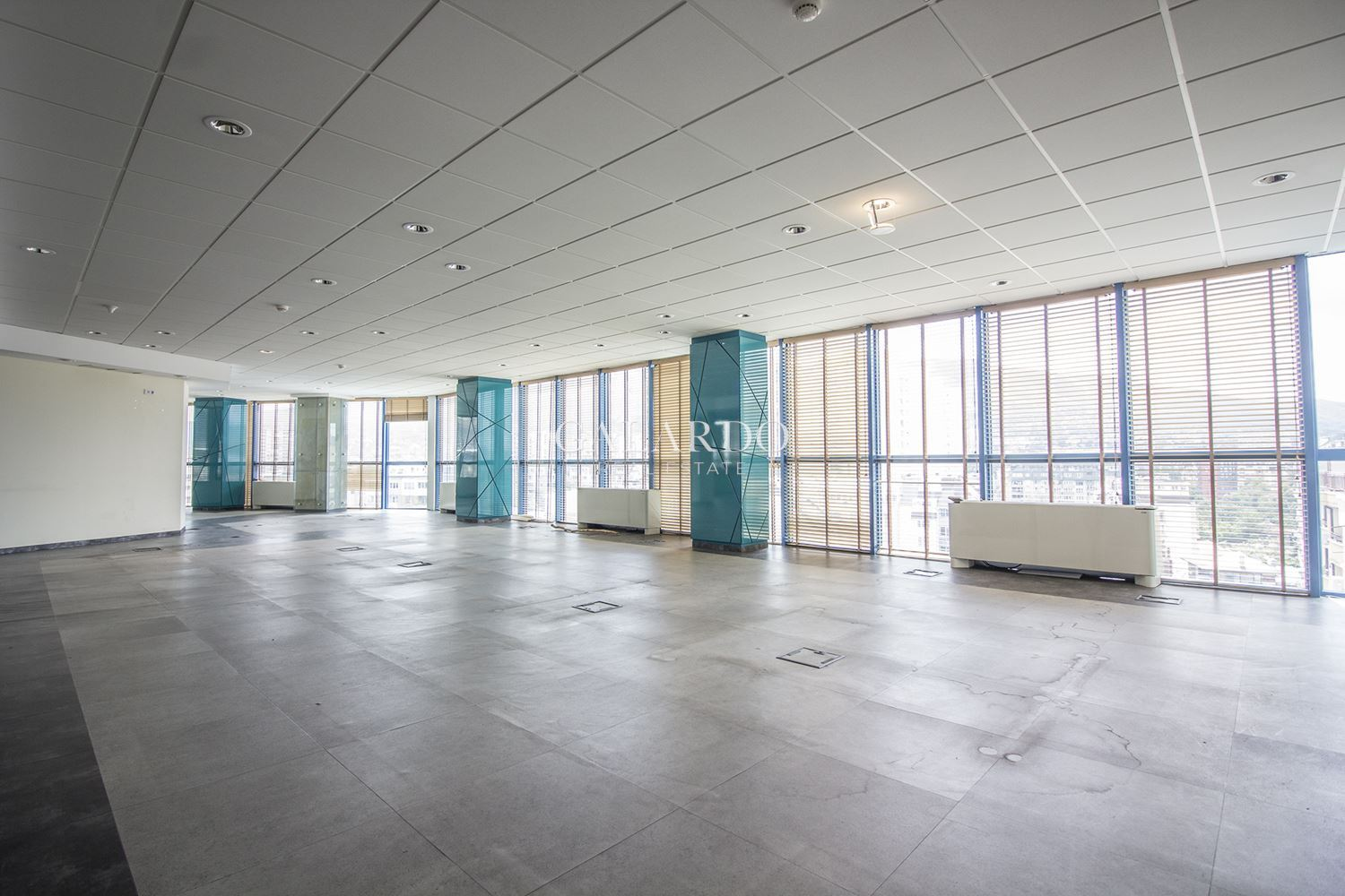 Panoramic office in a class A building