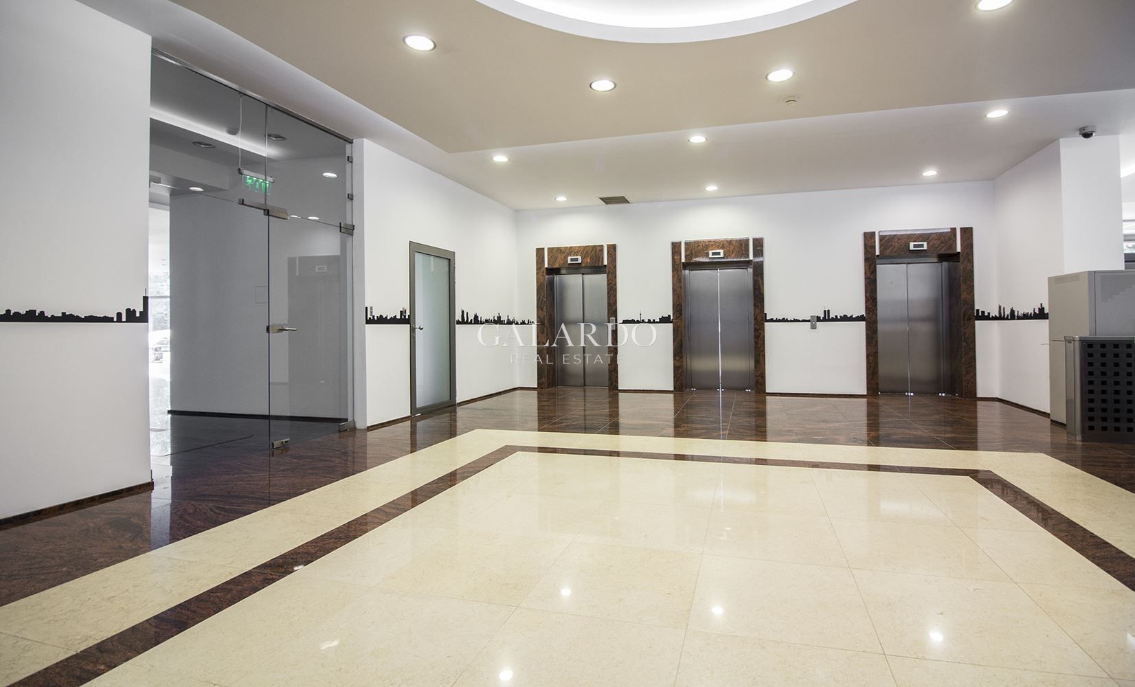 A bright office in a class A business building